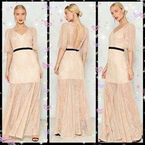 New! Nasty Gal Fancy Maxi Lace Dress Sz: Large